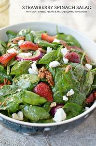 Strawberry Spinach Salad with Pesto Balsamic Vinaigrette ...