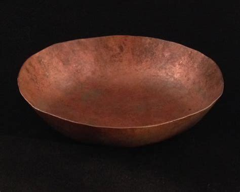hand  handmade hammered copper bowl  debra