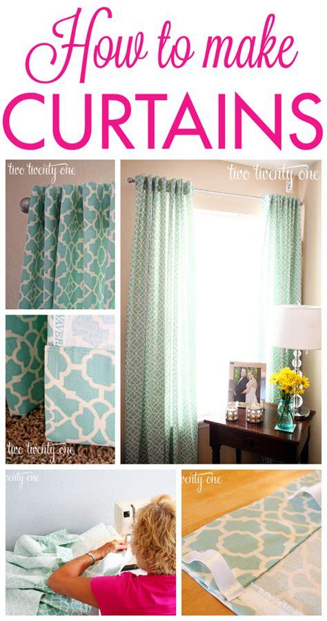 Diy Kitchen Curtain Ideas - how to make curtains diy two twenty one