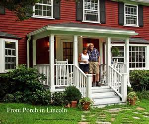 Front Porch Pictorial Essay Suburban Boston Deck Front Porch Ideas Style For Ranch Home