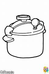 Pressure Coloring Pages Olla Cooking Kitchenware Presion Dibujo Drawing Drawings sketch template