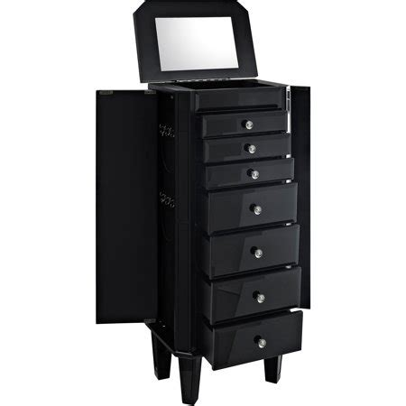 Black Jewelry Armoire Walmart by Glass Jewelry Armoire Black Walmart