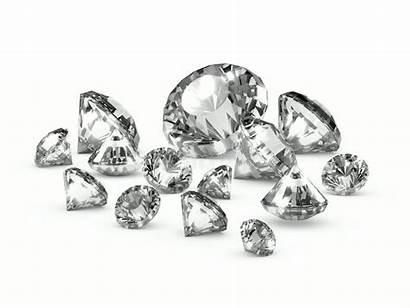 Diamonds Scattered 3d Render Illustration