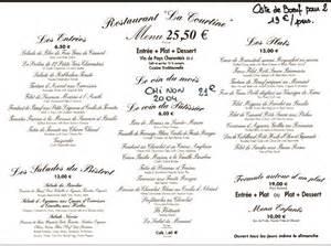 carte de dessert restaurant revue