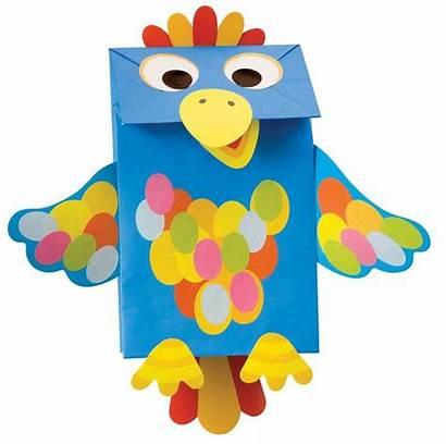 Paper Bag Parrot Craft Preschool Crafts Kindergarten