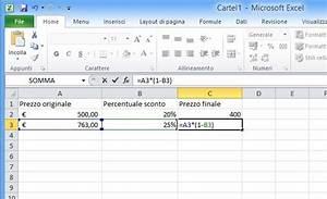 Formule Si Excel : come sottrarre la percentuale in excel salvatore aranzulla ~ Medecine-chirurgie-esthetiques.com Avis de Voitures