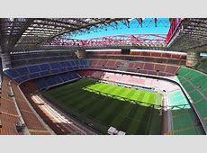 Drone Stadium Flight San Siro AC Milan Inter Milan Italy