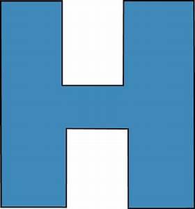 blue letter h clipart With blue alphabet letters