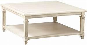 Table Basse Fontainebleau Bois 100 X 100 Cm