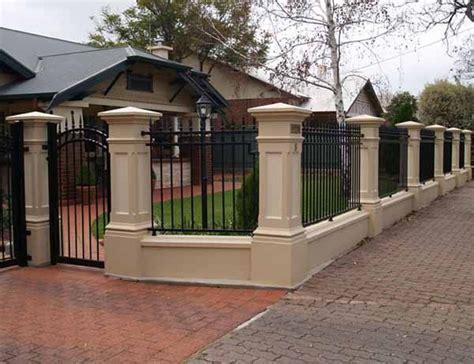 modelo de muro frontal concrete fence fence gate design brick fence