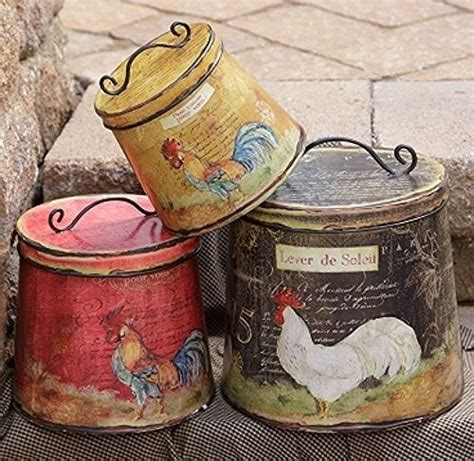 rooster kitchen canister sets new country black must set 3 rooster chicken