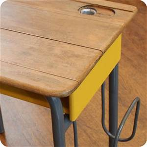 Bureau écolier Vintage : meubles vintage bureaux tables ancien bureau d 39 colier avec porte cartable fabuleuse factory ~ Nature-et-papiers.com Idées de Décoration