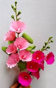 Blumen Aus Seidenpapier : flores de papel malvas paper flowers hollyhock mallows papierblumen blumen aus ~ Orissabook.com Haus und Dekorationen
