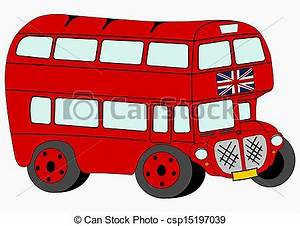London Red Bus Clipart - ClipartXtras