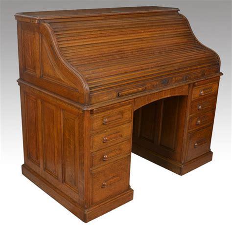 antique roll up desk oak pedestal roll top desk antiques atlas