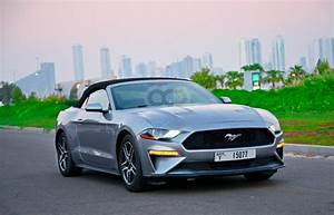 Rent Ford Mustang V6 Convertible 2020 car in Dubai: Day, week, monthly rental