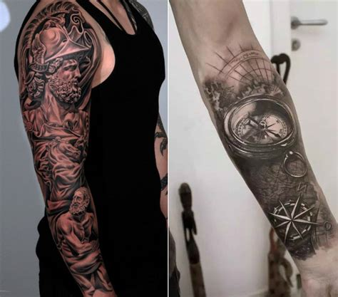 tatouage moto bras homme