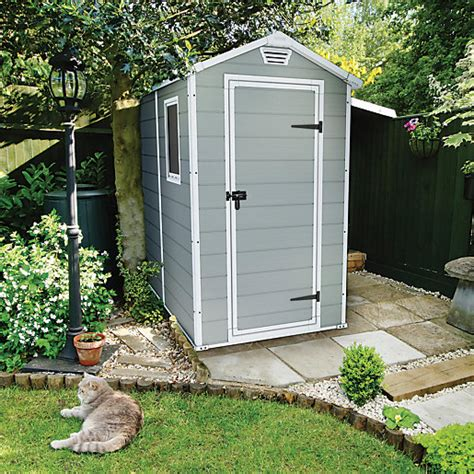 keter 6 x 6 plastic shed keter manor door plastic shed grey 6 x 4 ft