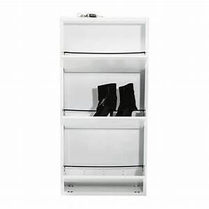 Casier A Tiroir : casier chaussure blanc caruso 3 tiroirs kare design ~ Teatrodelosmanantiales.com Idées de Décoration