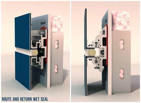 route  return wet seal alucobond attachment system metallverkleidung produktdesign