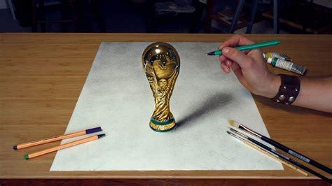 3d Zeichnen by Wm Fussbal Pokal 2018 Zeichnung 3d Malen 3d Pabst