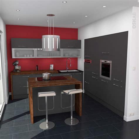 cuisine touch cuisine grise porte effet touch ginko gris mat déco