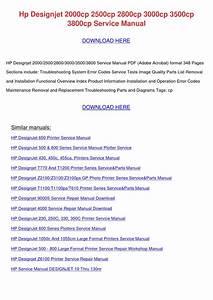 Hp Designjet 600 Series Plotters Service Manual