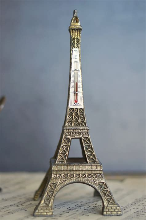 vintage eiffel tower thermometer  french finds