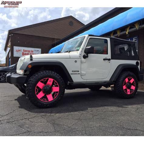 matte pink jeep jeep wrangler xd series xd775 rockstar wheels matte black pink