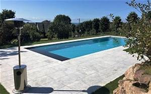 photo de piscines realisations dans le calvados With piscine avec liner gris clair 4 structure escalier et couleur de leau de votre piscine