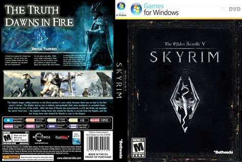 The Elder Scrolls V Skyrim Pc Game Covers The Elder