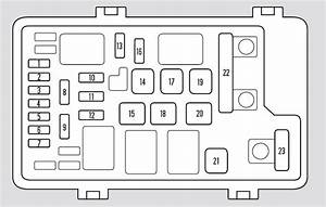 Honda Odyssey  2006  U2013 2007   U2013 Fuse Box Diagram