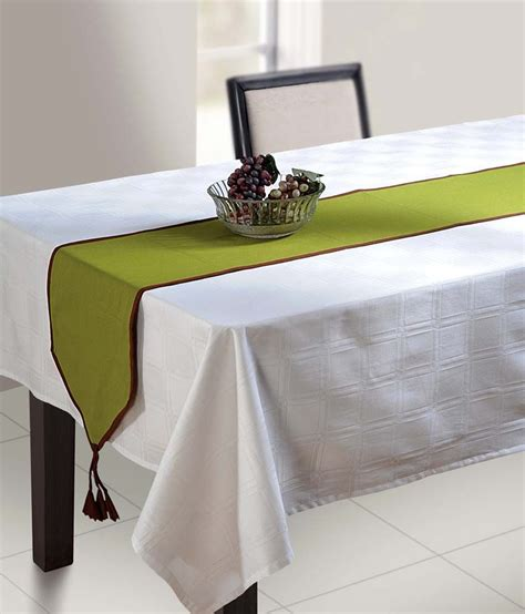 small table runner swayam green solid table runner small buy swayam green 2374