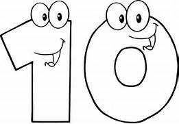 Number 10 Clipart   Cl...Ten Clipart Black And White