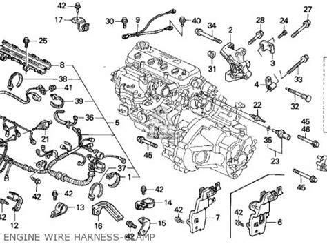 2005 Civic Engine Wire Harnes by Honda Accord Wagon 1991 Wgn Lx Ka Kl Parts List