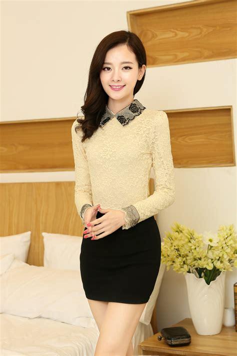 baju blus baru warna putih hitam apricot motif bordir brukat bunga efashioninkatalog