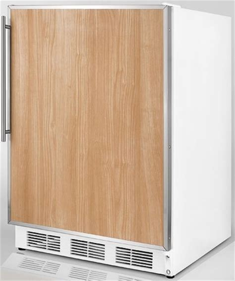 refrigerators that accept cabinet panels summit ff7fr commercial undercounter all refrigerator with