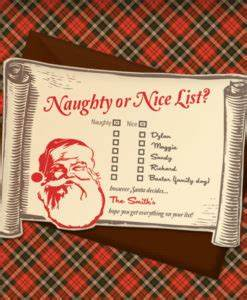 Christmas Invitation Templates With Or Nice List
