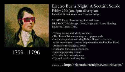 Electro Burns Night  A Scottish Soiree  Mad World Fancy Dress