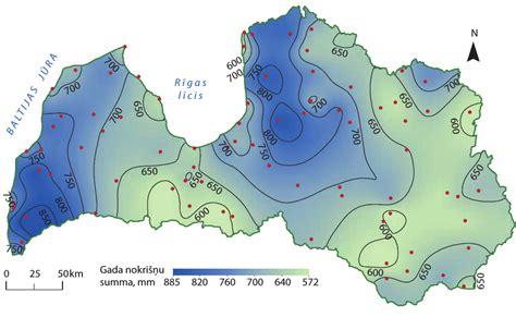 4. Latvijas klimats un tā mainības raksturs: 4.3. Nokrišņi ...