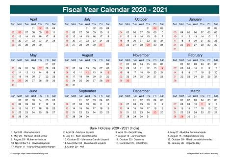 fiscal calendar vertical grid sun sat holiday india cool
