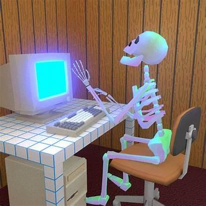 Giphy Computer Pc Gifs Skeleton Hacking Tweet