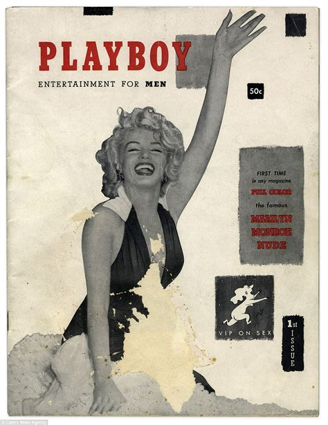 marilyn monroe first magazine cover first ever copy of playboy magazine featuring marilyn