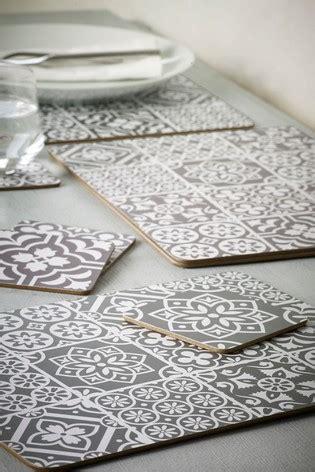 buy set   tile print placemats  coasters
