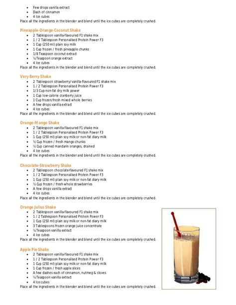 herbalife shake recipe book healthy stuff herbalife