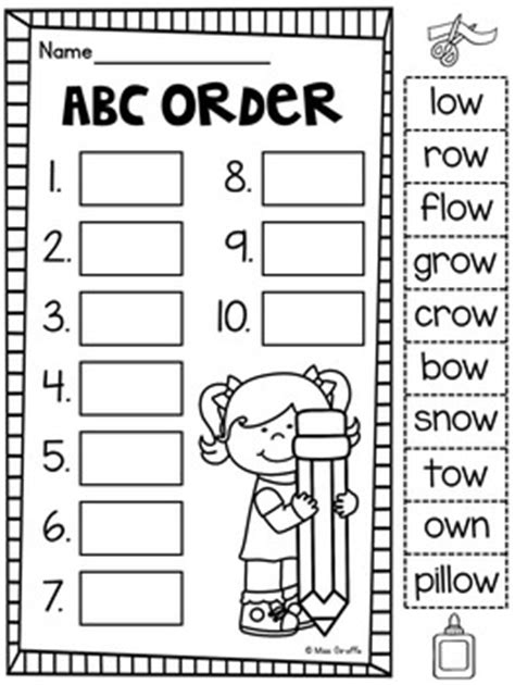 oa ow worksheets activities no prep by miss giraffe tpt