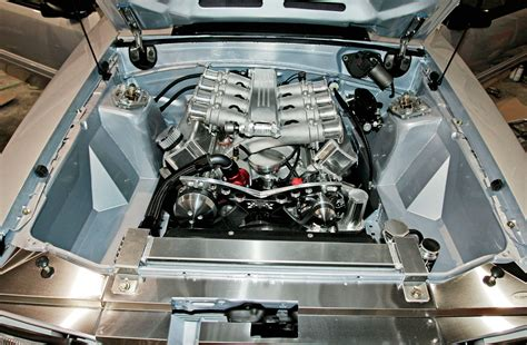 ford mustang gt project hypersilver engine bay