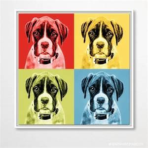 Pop Art Kleidung : hunde pop art boxer in 4 farben andy warhol stil auf leinwand ~ Indierocktalk.com Haus und Dekorationen
