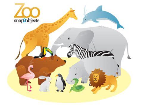 12 Free Vector Zoo Animals