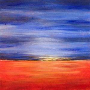 Easy Acrylic Painting Ideas: Abstract Landscape | Easy ...